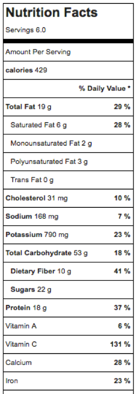 strawberry-rhubarb-baked-oatmeal-nutrition